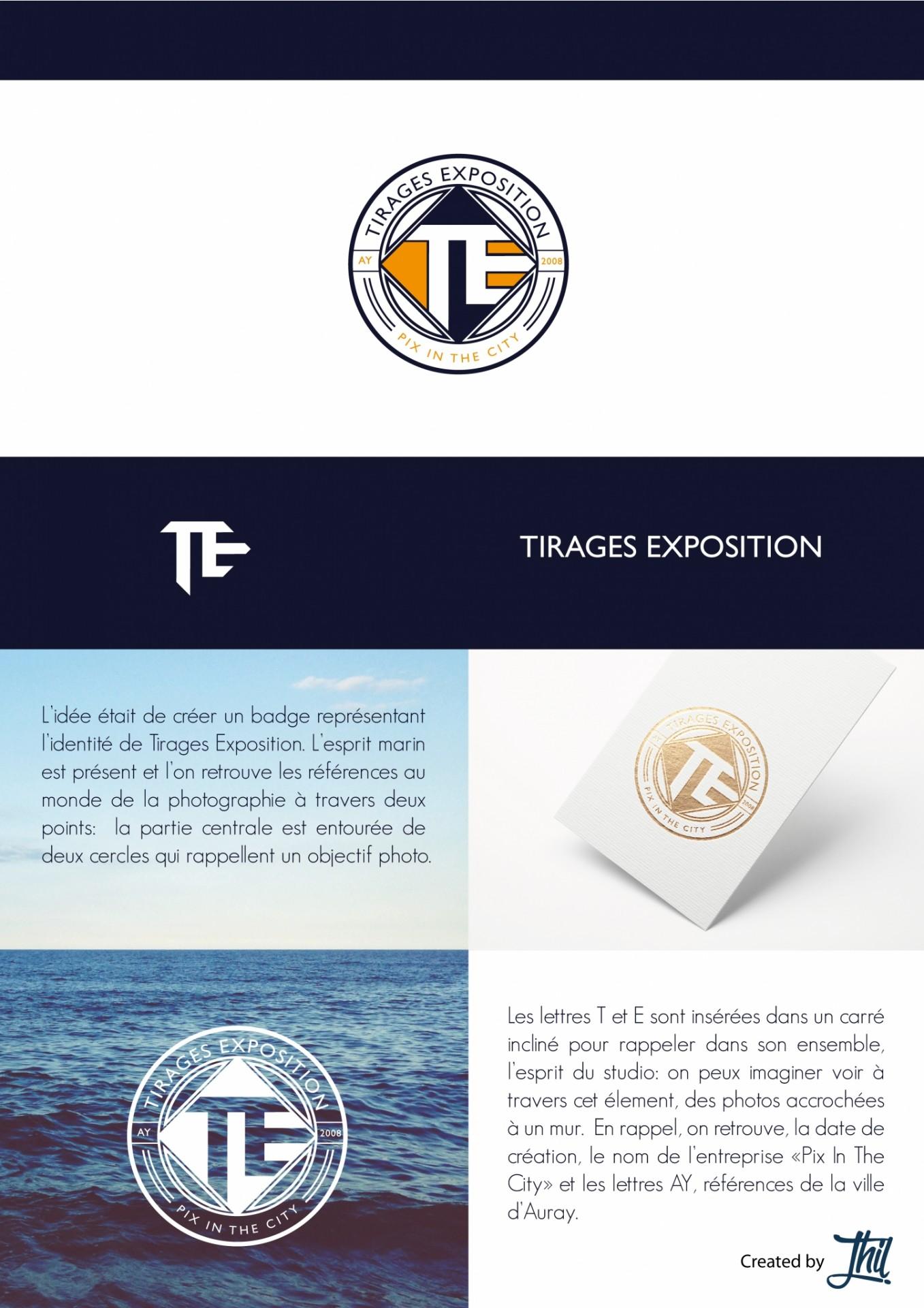 tirages exposition studio thil logo création charte graphique