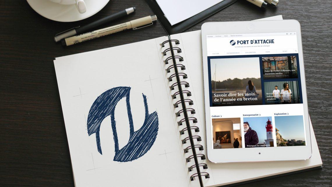 image site internet et logo port d'attache